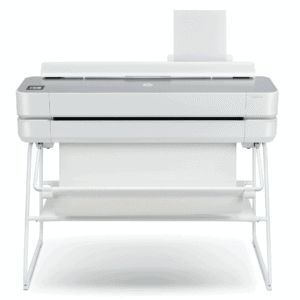 HP DesignJet Studio Steel 36-in A0 printer - photo shows the printer forward facing, giving an impression of the size and style of the printer.