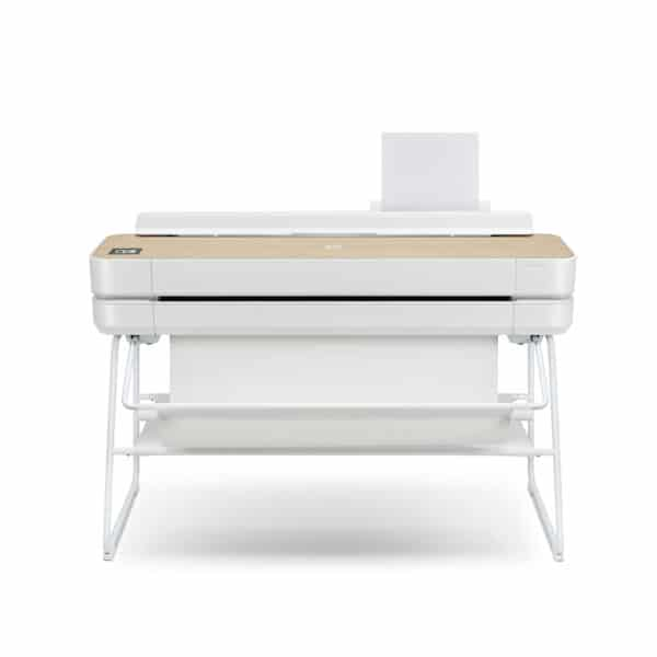 HP DesignJet Studio Wood 36-in A0 printer - photo shows the printer forward facing, giving an impression of the size and style of the printer.
